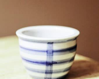 Blue & White Small Asian Tea Cup