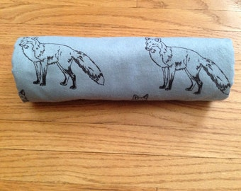 Fox FlannelSwaddle Blanket Baby Toddler Large