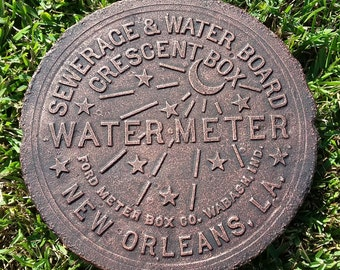 New Orleans Water Meter Cover - Copper