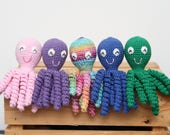 Crochet Preemie Octopus Amigurumi - Baby Shower Gift Idea - Mini Octopus Preemie Newborn Lovey - Any Color Made to Order