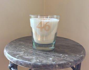 Makers Mark 46 Bourbon Whiskey Bottle Candle