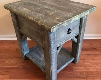 Rustic Side Table, Rustic End Table, Side Table, End Table, Accent Table, Country Table, Farmhouse Table