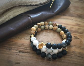 Calming Support Reiki Infused Wire Wrap Mala