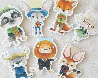 Zoo City Magnetic Bookmark Set