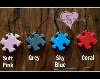 Silicone Toddler and Child Pendant Fidget Necklaces - for nail biters, clothing eaters and fidgeters