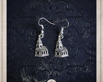 MEDIEVAL churches BOA064 Silver earrings