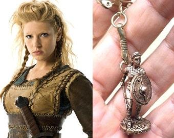 Bronze keychain viking Lagertha