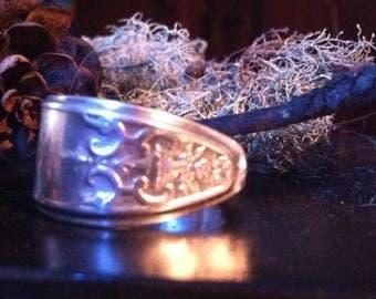 Silver Spoon Ring - Lady Doris - Spoon Ring - Fork Ring - Silverware Ring - Spoon Jewelry - Fork Jewelry - Silverware Jewelry - Boho Ring