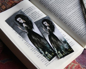 Bookmark Art drawing print, Harry potter, Bellatrix illustration brand page