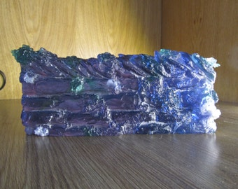 glass sculpture of dry stone wall