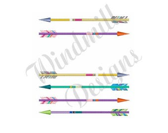 Archery Arrows - Machine Embroidery Design