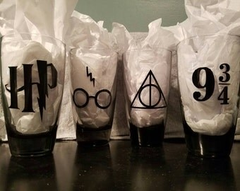 Harry Potter inspired drinking glasses