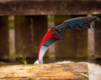 CSGO Karambit Knife Autotronic Tactical Collectable Knife - CS GO cs:go knife Karambit Counter Strike
