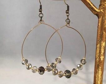 Czech glass dangle earring