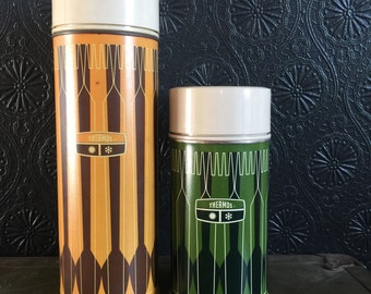 Vintage 1971 King Seeley Thermos (2 available as a set or purchase seperately)