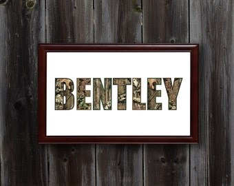 Personalized Camo Wall Art