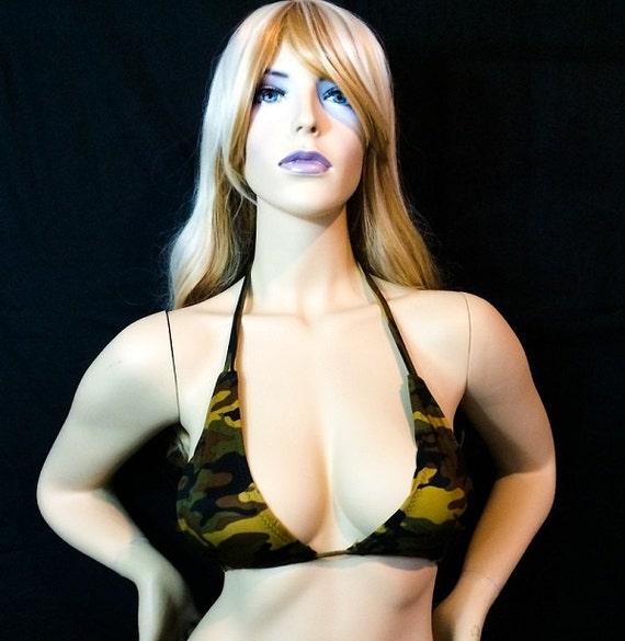 New Exotic Dancer Stripperwear Scrunch butt Bikini Camo Set