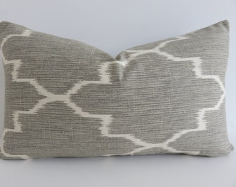 Grey Lumbar Pillow Etsy