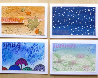 Notecards set of 4 - The Four Seasons!
