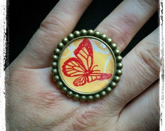 Butterfly ring - spring - Original - large room