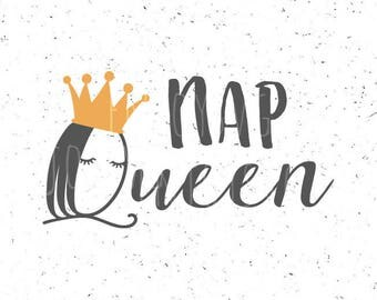 NAP QUEEN SVG file Nap svg Nap svg file Nap Queen svg Sleepy eyes svg Queen svg Napping svg Crown svg Napping svg file Cricut eyes svg file