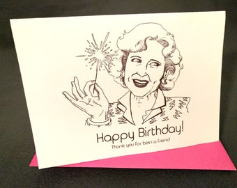 Girls 17th card etsy january 17th betty white rose nylund born on your birthday card bookmarktalkfo Images