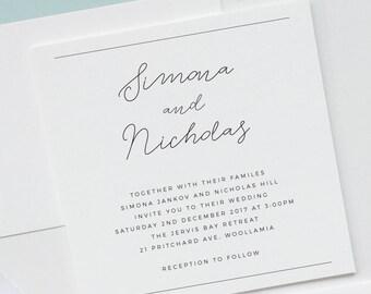 LOVE NOTE | wedding invitation | professionally printed wedding invitations
