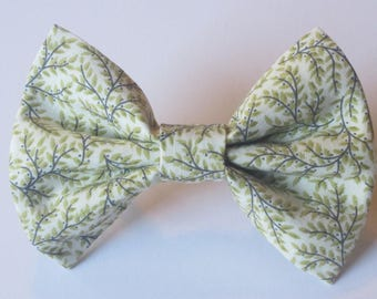 Green Vines Bow Tie- All Sizes