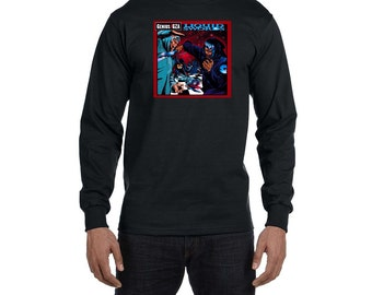 GZA Liquid Swords Long Sleeve T-Shirt Vintage Style Hip Hop New Rap Tee Shirt Classic Shirt Wu Tang Clan RZA Method Man ODB East Coast Rap