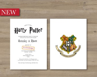 Harry potter birthday invitation Etsy
