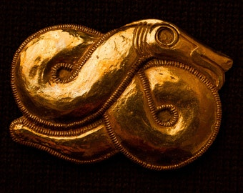World Snake Belt Buckle - B-61