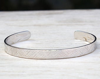 ring Silver 925 bracelet geometric designs