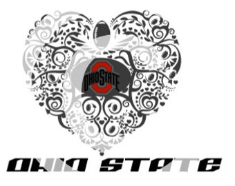 Ohio State Buckeyes - Ornate SVG Heart