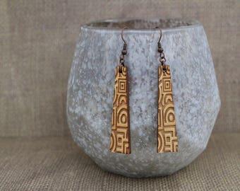 Earrings / Wood Earrings / Brown Earrings