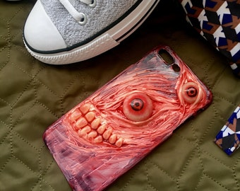 The Handmade Eyes Ball Rotten Skin Tooth Horror Phone Case Iphone6/6s/7 puls