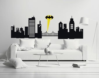 Gotham City -   Mural Wall Decal Sticker For Home Car Laptop