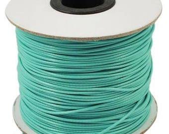 10m Aquamarine Blue Thin Waxed Nylon Cord 0.5mm Shamballa Kumihimo Braiding Thread