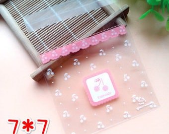 Cookie bags cellophane bags 20 pezzi/pieces set 7 x 7 + 3 cm
