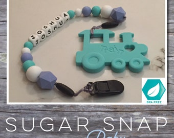 Silicone - personalized baby teether - personalized pacifier holder - baby teether - silicone teethers - baby chew toy - autism asd toy