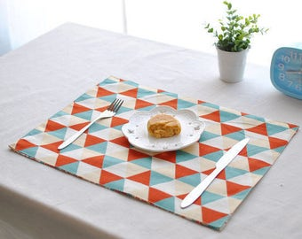 Colorful Triangles Placemat