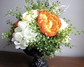 Stately Faux Floral Arrangement - Elegant Centerpiece - Easter Decor