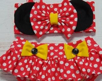 Baby Bikini - Toddler Bikini - Child's Bikini  - Baby Swimsuit - Toddler Swimsuit - Child's Swimsuit - Polka Dot Bikini - Minnie Bikini -