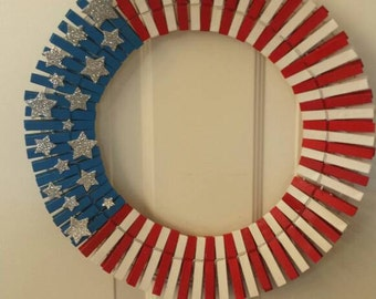 4th of July wreath / front door wreath / door wreath / holiday wreath / independence day wreath/ summer wreath
