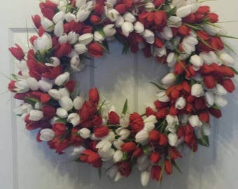 Tulip wreath / spring wreath / summer wreath / front door wreath / door wreath / Easter wreath