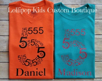 Number Birthday Shirt