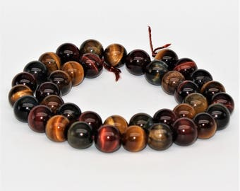 Multi Color Tiger's Eye Round Loose beads 6/8/10mm