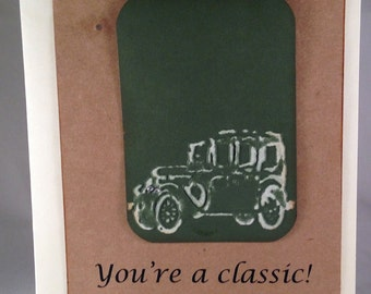 "Set of 5 ""You're A Classic"" CLASSIC Birthday Cards"