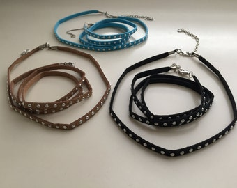 Wrap bracelet and choker set for dollar 15 each.