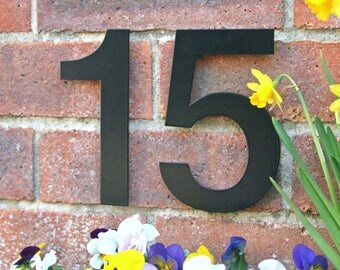 Modern house numbers Etsy