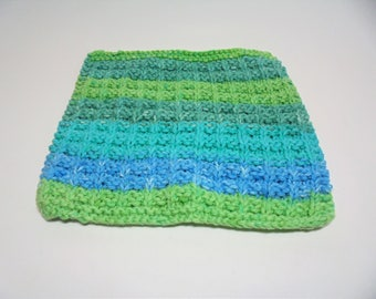 Square dishcloth with border, cotton dishcloth, dishcloth, knitted items, knit dishcloth, kitchen towels, made to order